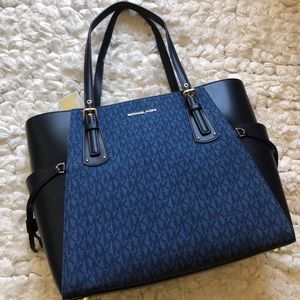 MICHAEL KORS Voyager handbag NWT denim blue